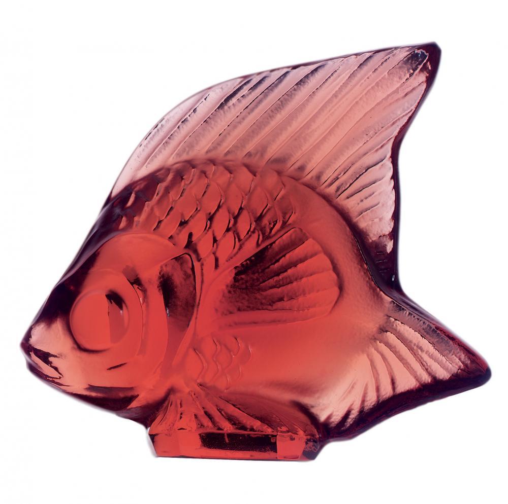 Cachet Poisson en cristal rouge