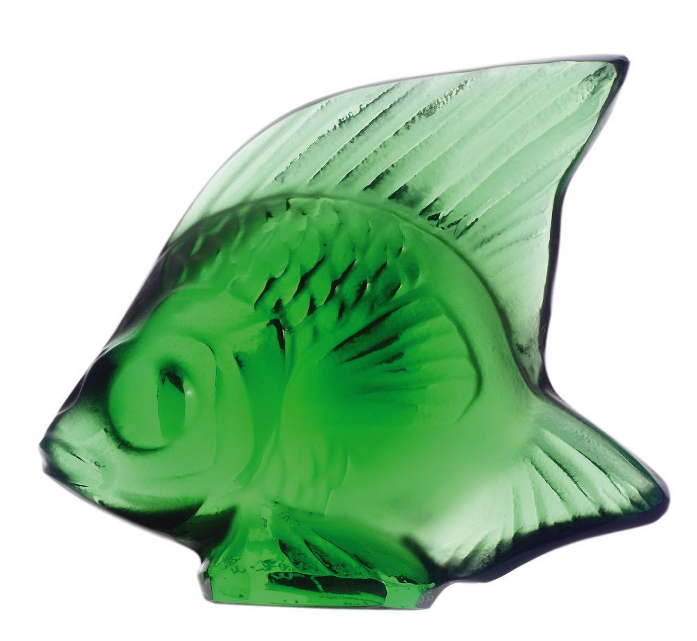 Cachet Poisson en cristal vert émeraude