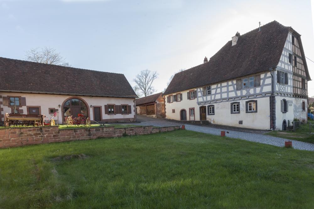 Maisons à colombage dans le village de Wimmenau.
